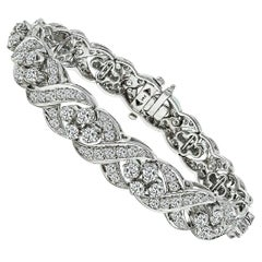 13 Carat White Gold Diamond Bracelet
