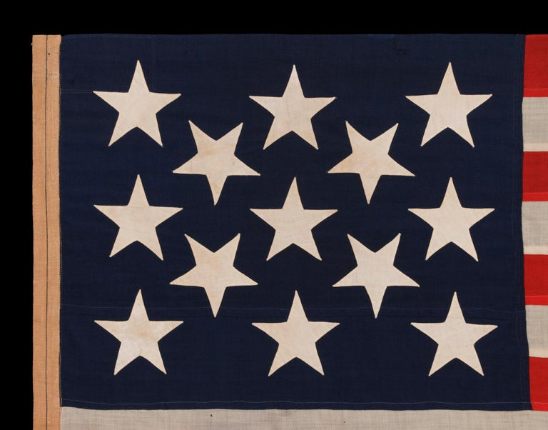 American 13 Enormous, Hand-Sewn Stars on a U.S. Navy Small Boat Ensigh For Sale