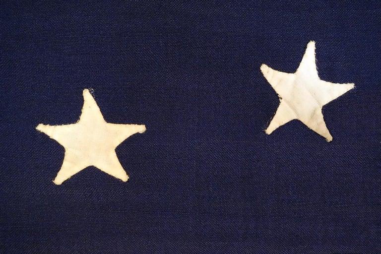 Mid-19th Century 13 Hand-Sewn Stars in a Elliptical Medallion Pattern, Civil War Era For Sale