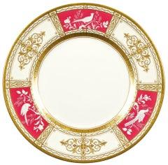 13 Minton Pate-sur-Pate Service Plates, Artist Signed W. Key
