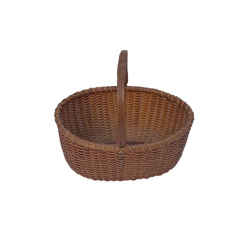 North American Oval Nantucket Lightship Basket For Sale