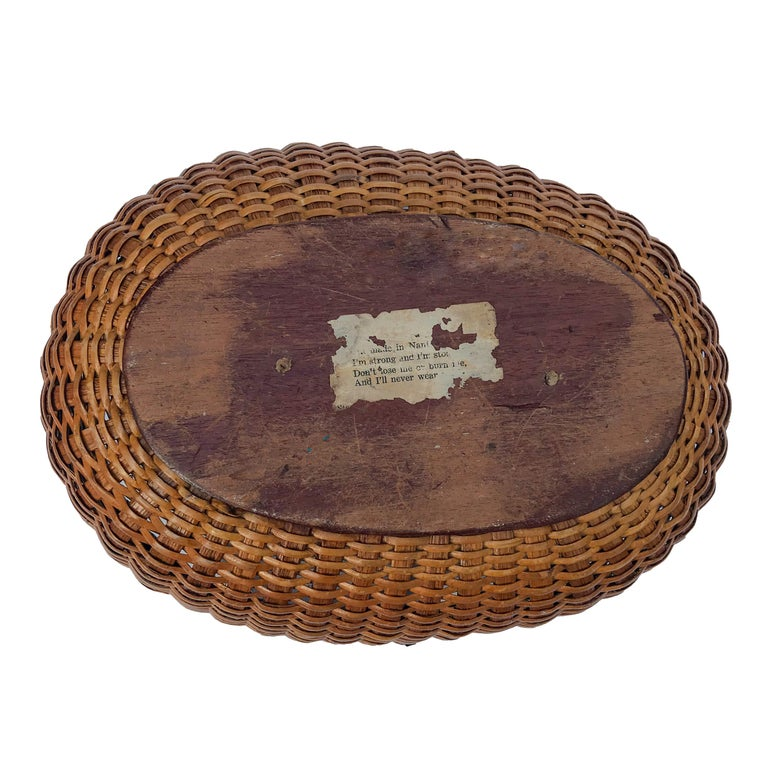 Oval Nantucket Lightship Basket In Good Condition For Sale In Nantucket, MA