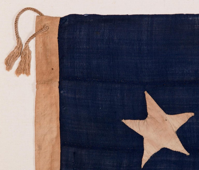 Wool 13 Star, 3rd MD Pattern, Hand-Sewn Antique American Flag, Civil War Era, 1861-65 For Sale