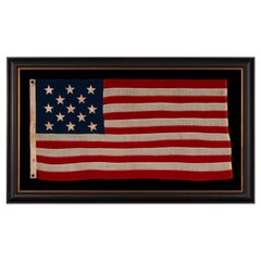 13 Star American Flag, Small in Scale, with Stars in a 3-2-3-2-3 Pattern