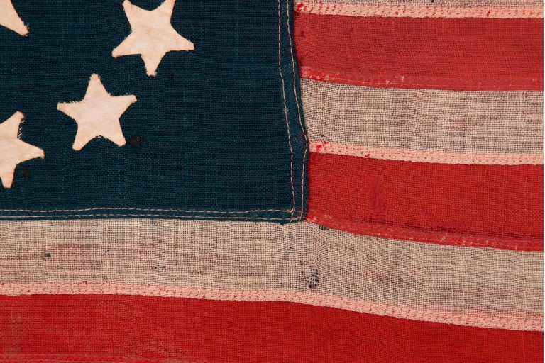 Late 19th Century 13 Star American Flag with Hand-Sewn Stars in the 3rd Maryland Pattern For Sale