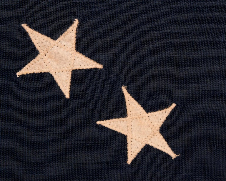 13 Star American Flag with Stars Sewn in the Betsy Ross Pattern For Sale 1