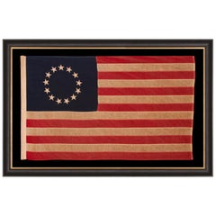 13 Star American Flag with Stars Sewn in the Betsy Ross Pattern