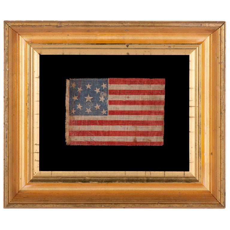 13 Star Antique American Parade Flag For Sale