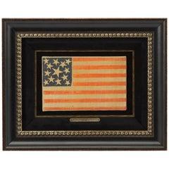 13-Star Civil War Parade Flag Waver, Printed on Muslin
