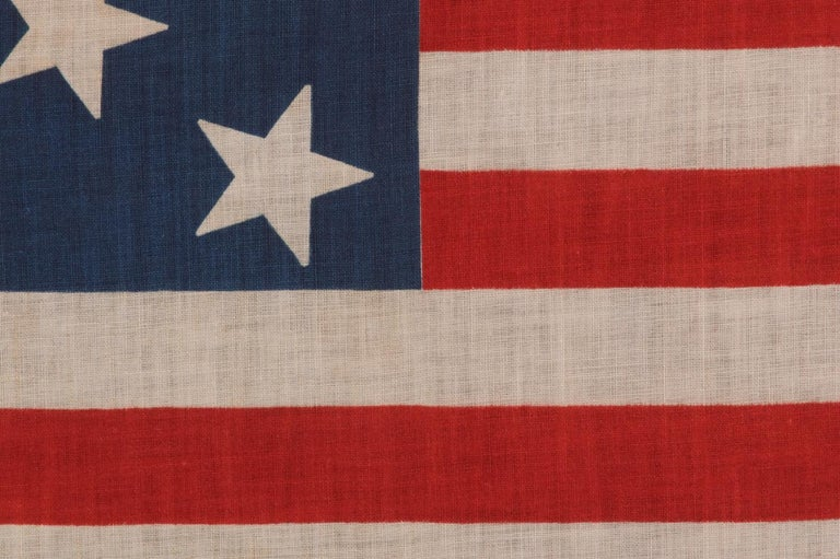 13 Star Parade Flag with Stars in a 3-2-3-2-3 Pattern, circa 1876-1898 In Good Condition For Sale In York County, PA