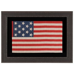 13 Star Parade Flag with Stars in a 3-2-3-2-3 Pattern, circa 1876-1898