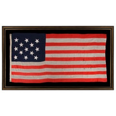 13 Stars in a 3-2-3-2-3 Pattern on a Large Scale American Flag, Circa 1890's