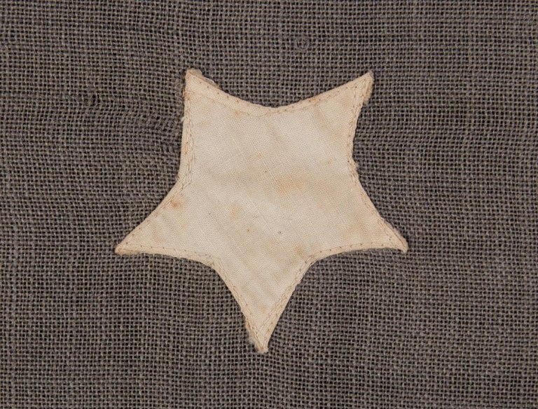 19th Century 13 Stars in a 4-5-4 Pattern on a Dusty Blue-Grey Canton, ca 1890-1895 For Sale
