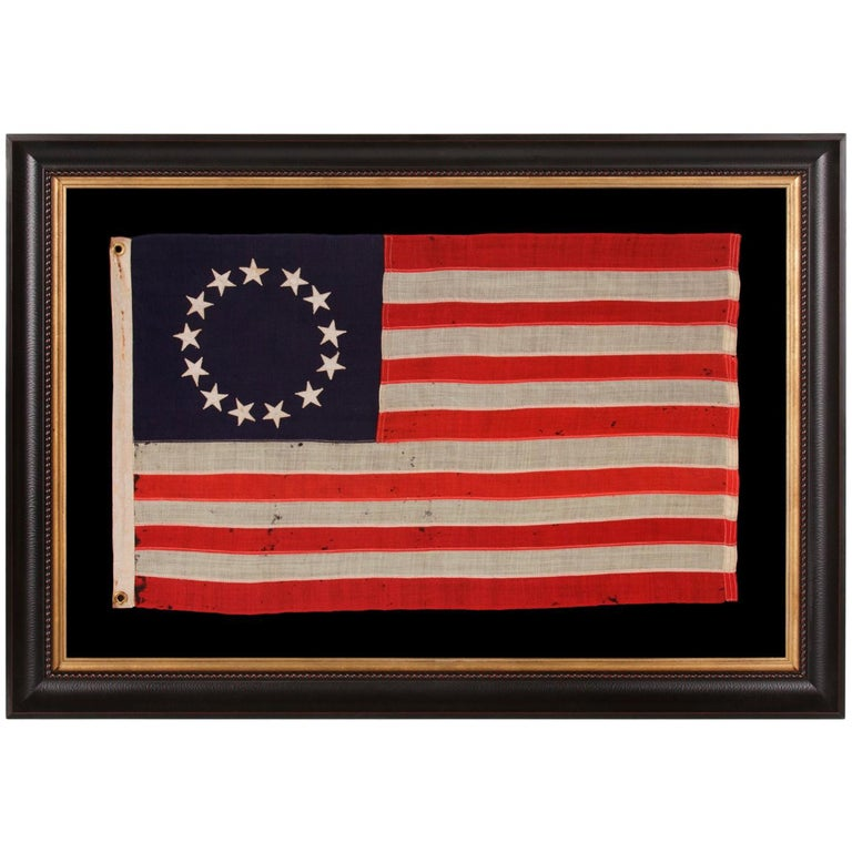 13 Stars In The Betsy Ross Pattern On A Small Scale