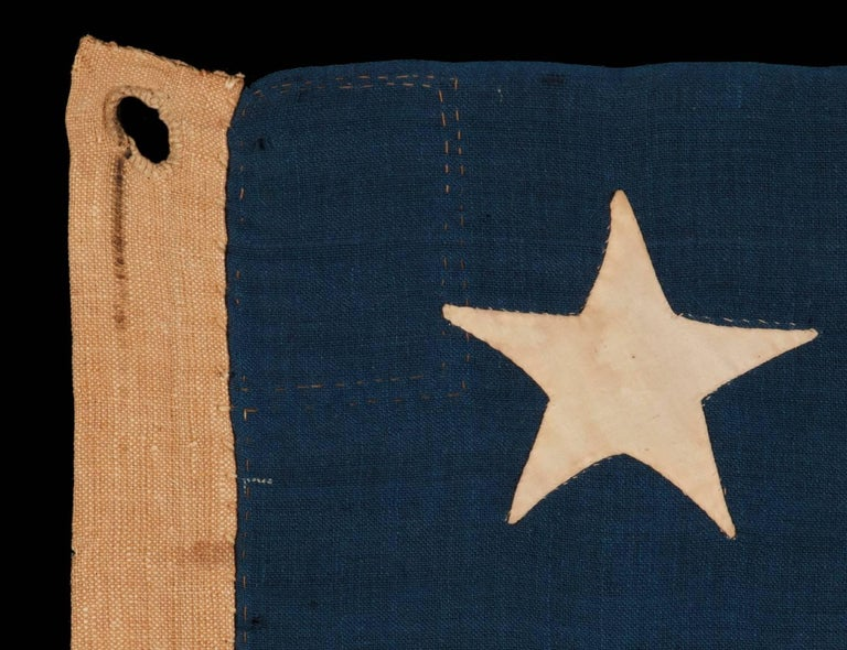13 Stars on a U.S Navy Small Boat Ensign, Entirely Hand-Sewn For Sale 1