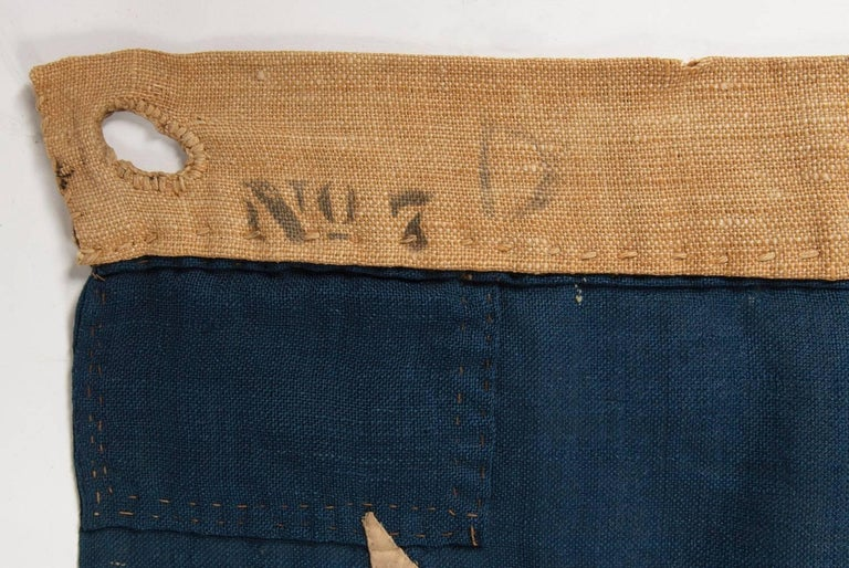 13 Stars on a U.S Navy Small Boat Ensign, Entirely Hand-Sewn For Sale 2