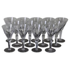 13 Waterford Sheila Cut Crystal Claret Wine Glasses Water Goblets Stemmed
