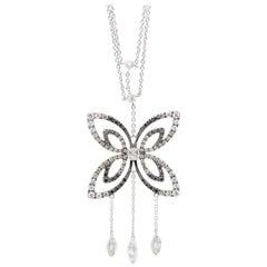 1.30 Carat Butterfly Diamond Pendant in 18 Karat Gold