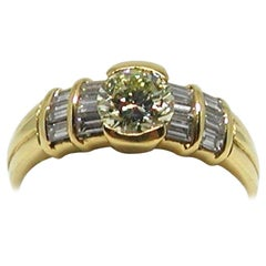 1.30 Carat Yellow Gold Fancy Yellow Diamond Ring