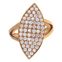 1.30 Total Carat Diamond Rose Gold Cocktail Ring