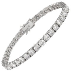 Alexander 13.03 Carat Diamond Tennis Bracelet 18 Karat White Gold