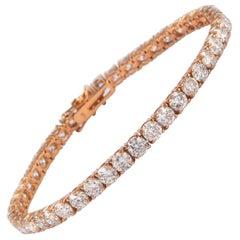 Alexander 13.04 Carat Diamond Tennis Bracelet 14 Karat Rose Gold