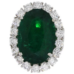 13.04 Carat Emerald Ring