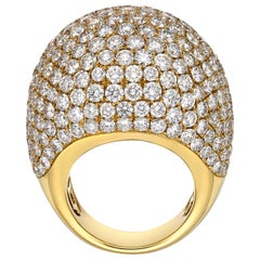 13.09 Carat Diamond Ring, Diamond Ball Ring, 18k Gold Diamond Ring, Unique Ring