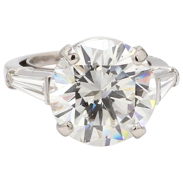 13.14 Carat I SI1 Round Brilliant Cut Diamond Ring, GIA Certified