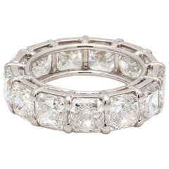 13.15 Carat F-I VS2-SI2, Radiant Cut Diamond Eternity Band, GIA Certified