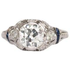 1.32 Carat Diamond Platinum Engagement Ring