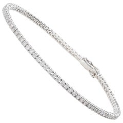 1.32 Carat White GVS Diamonds 18 Karat White Gold Tennis Bracelet