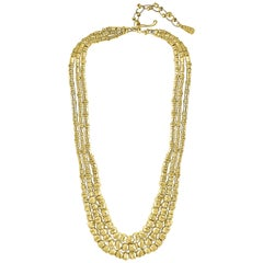 132 Gm 18 Karat Yellow Gold Designer Orlando-Orlandini Necklace