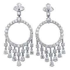 13.22 Carat Chandelier Style Diamond Earrings