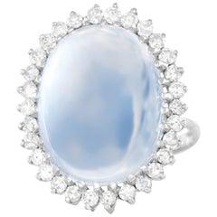 13.28 Carat Moonstone and Diamond-Set Ring