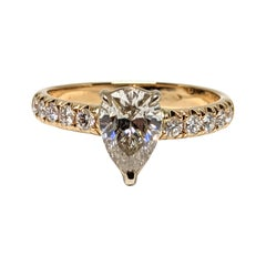 1.33 Carat Pear Shape Diamond Engagement Ring