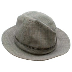Christian Dior Prince Of Wales Grey Check Trilby - Size 57