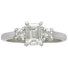 1.34 Carat Diamond White Gold Ring