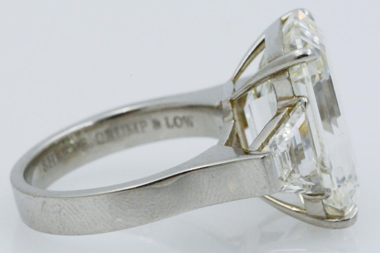 13.49 Carat GIA Emerald Cut 3-Stone Diamond Ring For Sale 5