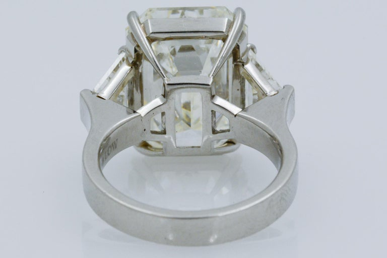 13.49 Carat GIA Emerald Cut 3-Stone Diamond Ring For Sale 6