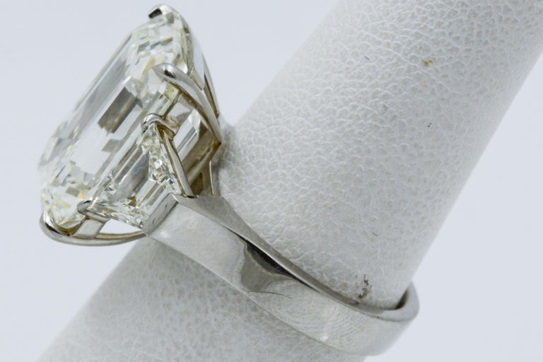 13.49 Carat GIA Emerald Cut 3-Stone Diamond Ring For Sale 2