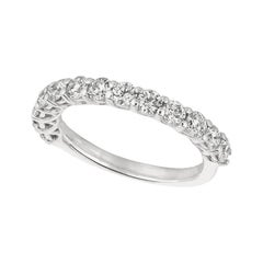 1.35 Carat Natural Diamond Ring Band G SI 14 Karat White Gold 13 Stones