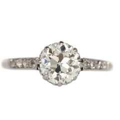 1.35 Carat Old European Brilliant Engagement Ring