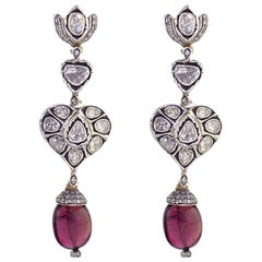 13.55 Carat Tourmaline Diamond Earrings