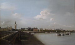 HOUSES OF PARLIAMENT VIEWED FROM SOUTH BANK  LONDON - LANDSCAPE PAINTING