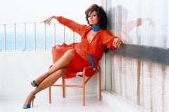 Sophia Loren - Color Photography, Portrait, 20th Century, Woman in Red