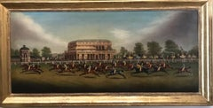 Captivating Oil Painting of Horse Racing - The Gold Cup at Doncaster 1839
