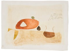 Sans Titre - Modern Art, Watercolours, Work on Paper,  Mid 20th Century