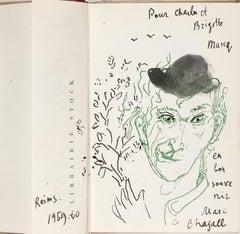 Autoportrait à la grimace au chapeau noir - Modern, Portrait, Late 20th Century