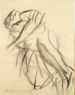 Untitled - Contemporary, Charcoal, Abstract Expressionists, Mid 20th Century